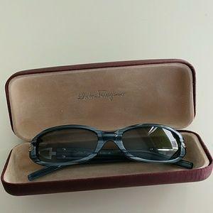 Salvador Ferragamo Blue Italian Sun Glasses